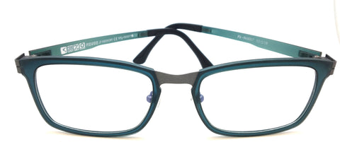 New Piovino Prescription Eyeglasses Soltax Hybrid Metal and Ultem PV 3007 Bule&Gray
