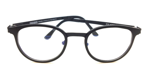New Piovino Prescription Eyeglasses Soltax Hybrid Metal and Ultem PV 3012 Black Round