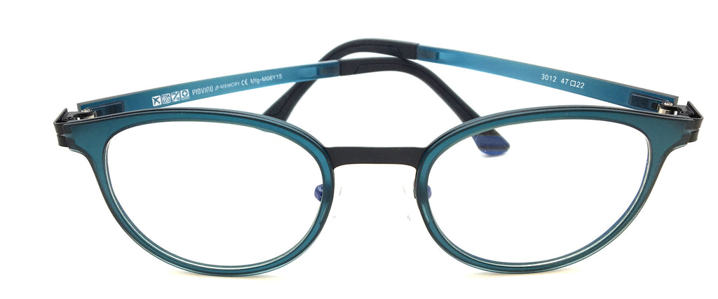 New Piovino Prescription Eyeglasses Soltax Hybrid Metal and Ultem PV 3012 Blue&Black