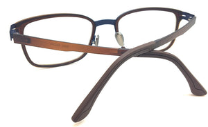 Prescription Eyeglasses Soltax Hybrid Metal and Ultem PV 3022 Brown&Blue
