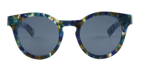 Ahlem Barbes Green Gold Vintage Sunglasses