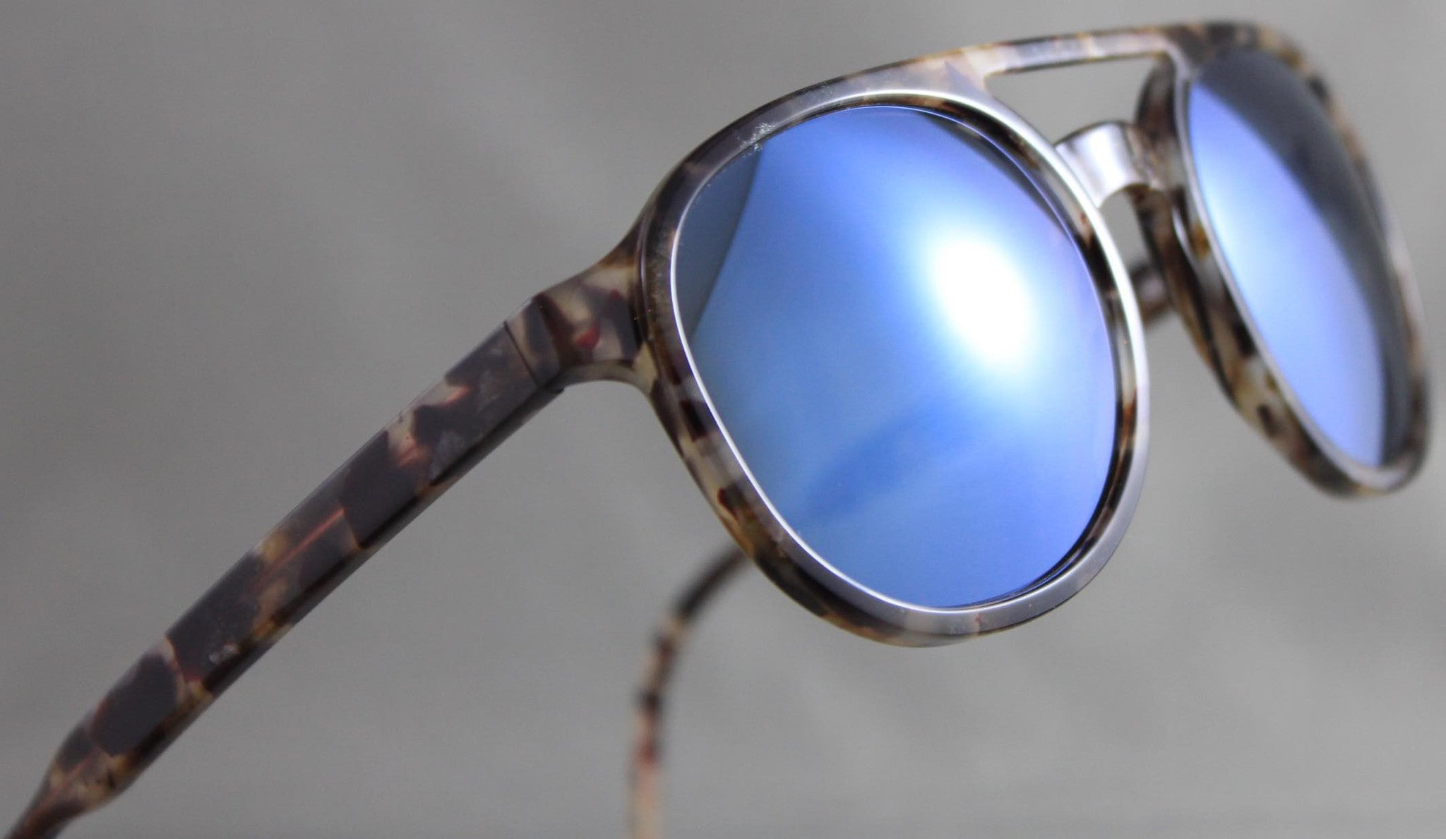 Res Rei Lupo Choco Italian Made Sunglasses