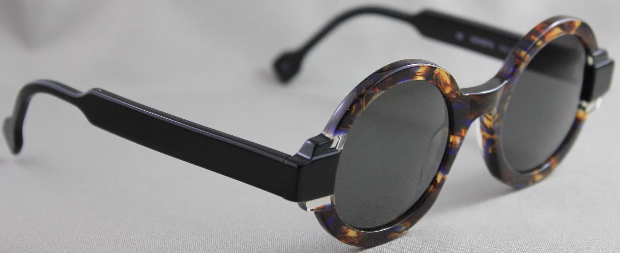 Res Rei Minerva Havana Clear Black Sunglasses
