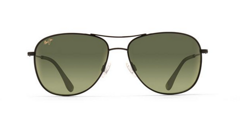 Maui Jim Cliff House Black Green Aviator Sunglass