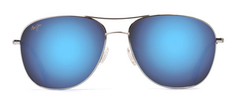 Maui Jim Cliff House Silver Blue Hawaii Sunglass