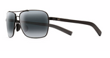 Maui Jim Freight Trains Gloss Black & Grey Lenses