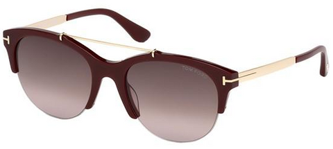 Tom Ford Adrenne TF517 Burgundy Italian Sunglass