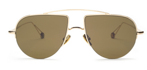 Ahlem Place d'Aligre Champagne Yellow Gold Sunglasses