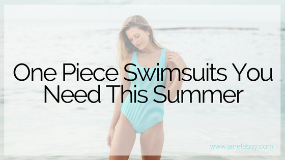 One Piece Swimsuits You Need This Summer