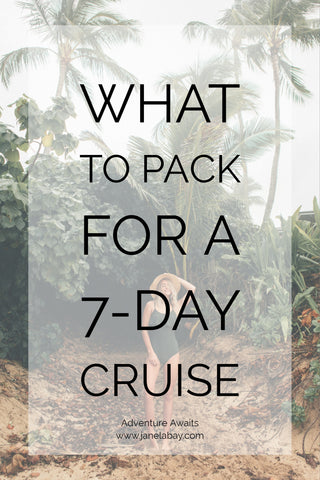 Packing for a Cruise | Packing for a Cruise Caribbean | Packing for a Cruise to Mexico | Packing for a Cruise to Bahamas | Janela Bay Swimwear