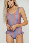 USA Leg Ruffle One Piece