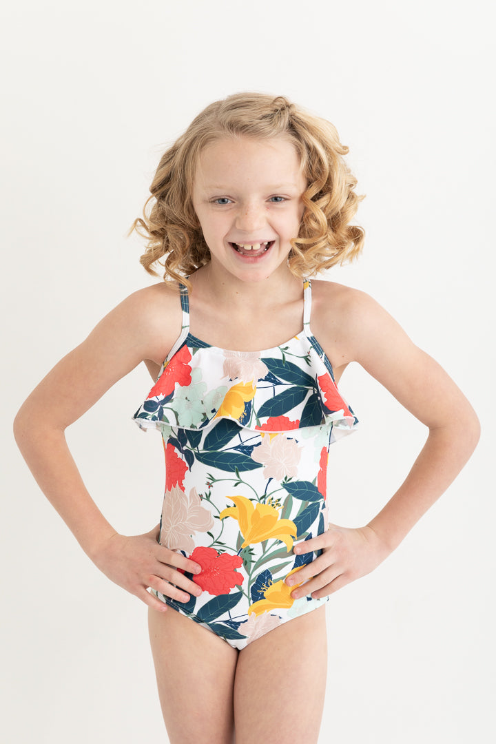 Ruffle One Piece Swimsuit (Kids)
