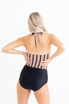Beach Striped Crop Top