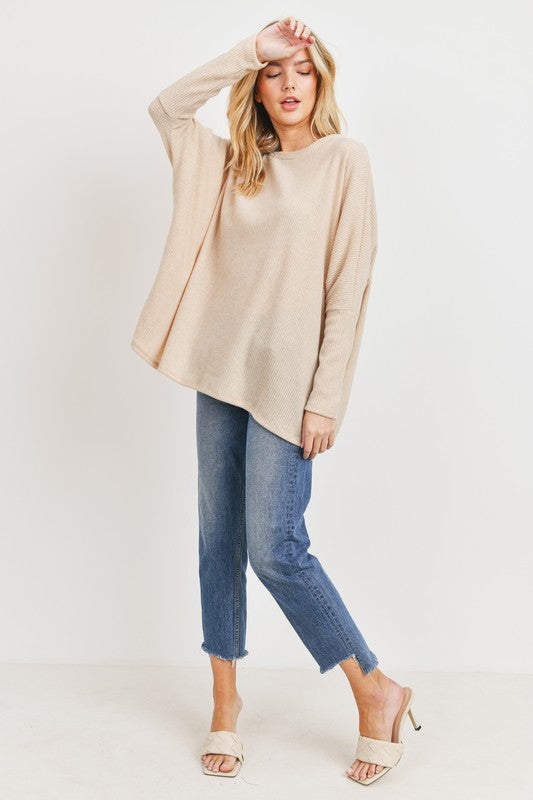 Brushed Rib Knit Pulover -  ShopatGrace.com