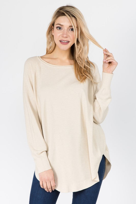 Boat Neck Cozy Sweater -  ShopatGrace.com