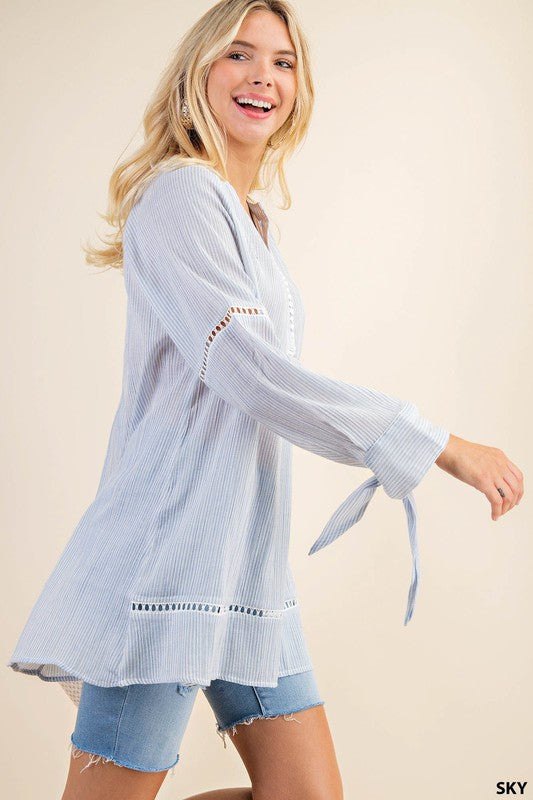 Pinstripe Tunic Top -  ShopatGrace.com