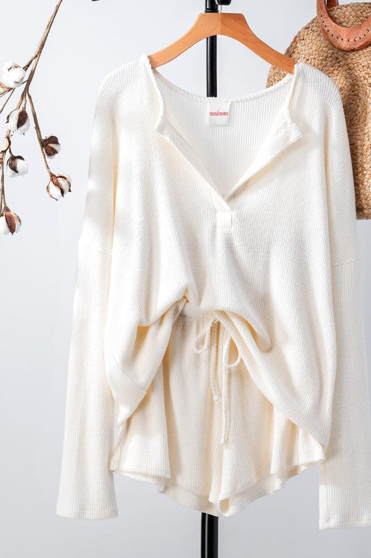 Soft Rib Knit Loungewear Set -  ShopatGrace.com
