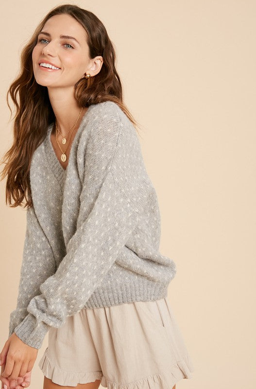 Heart Stitch Pullover Sweater -  ShopatGrace.com
