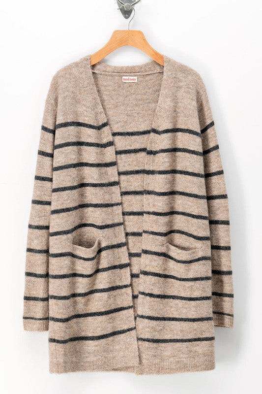 Striped Cardigan with Pockets -  ShopatGrace.com