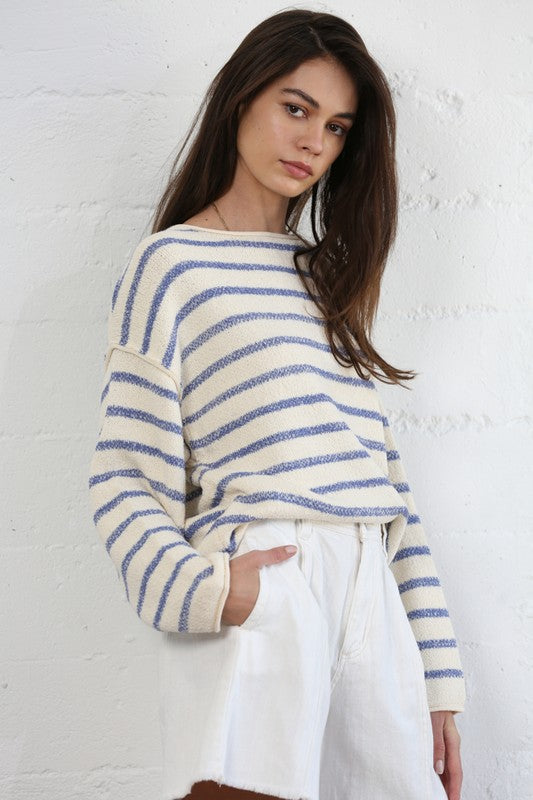 Bateau Stripe Sweater -  ShopatGrace.com