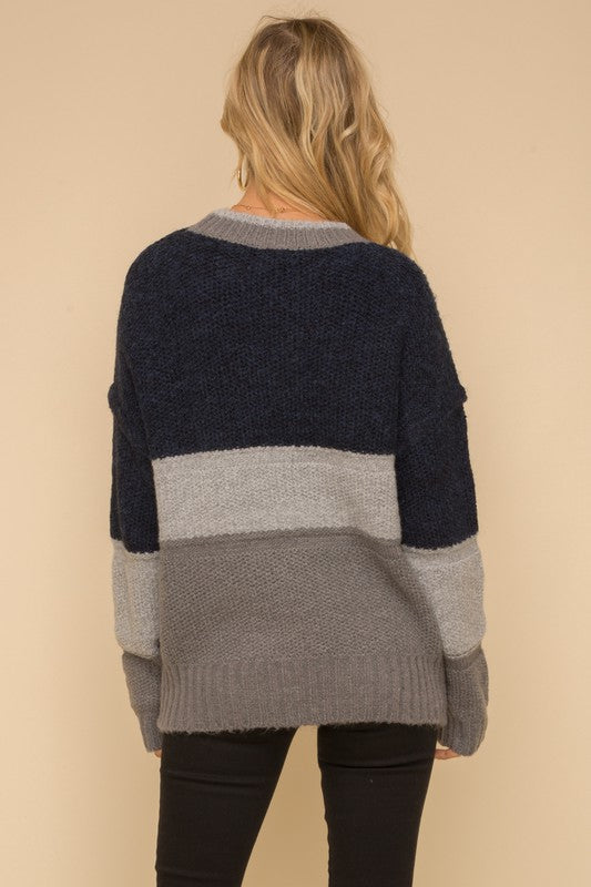 Boyfriend Color Block Sweater -  ShopatGrace.com
