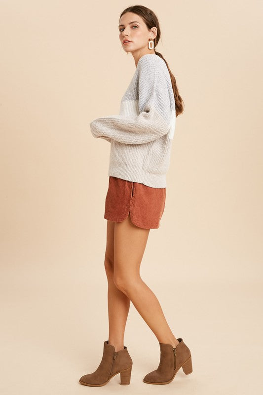 Brushed Colorblock Chevron Sweater -  ShopatGrace.com