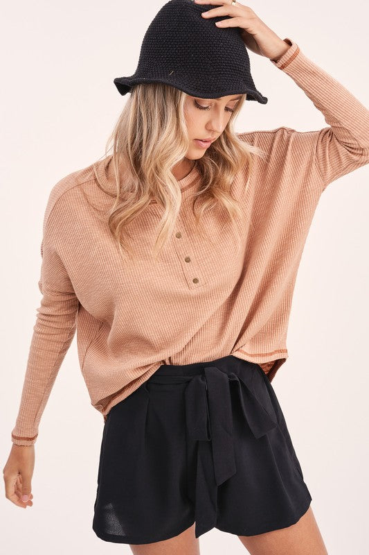 Riley Seamed Henley -  ShopatGrace.com