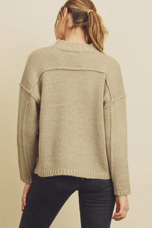 Mock Neck Sweater -  ShopatGrace.com