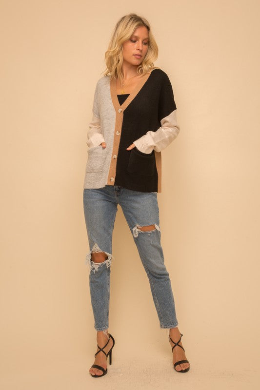 Color Blocked Cardigan -  ShopatGrace.com