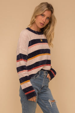 Stripe Chenille Sweater -  ShopatGrace.com