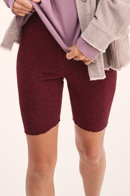 Ribbed Knit Bike Shorts -  ShopatGrace.com