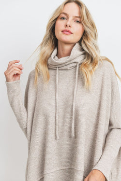 Cowl Brushed Thermal Top -  ShopatGrace.com