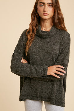 Cowl Neck Knit Sweater -  ShopatGrace.com