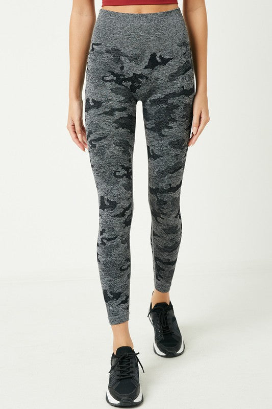 Heathered Camo Leggings -  ShopatGrace.com
