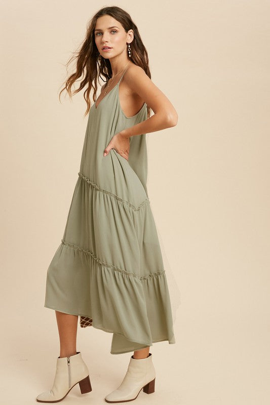 Asymmetrical Cami Dress -  ShopatGrace.com