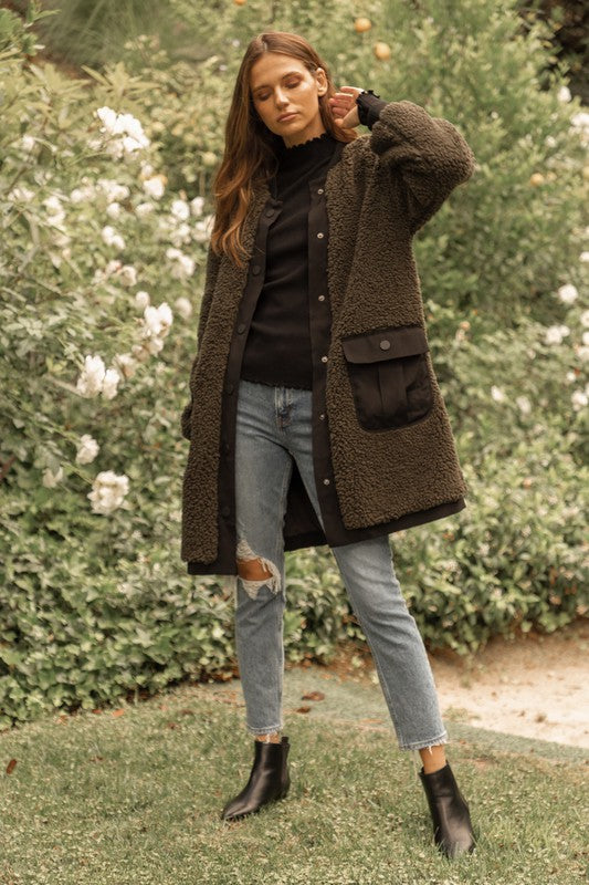Faux Shearling Coat -  ShopatGrace.com