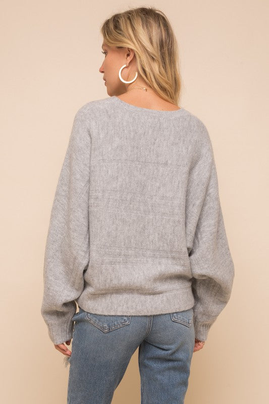 Soft Cable Sweater -  ShopatGrace.com