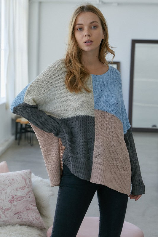 Color Block Cozy Sweater -  ShopatGrace.com