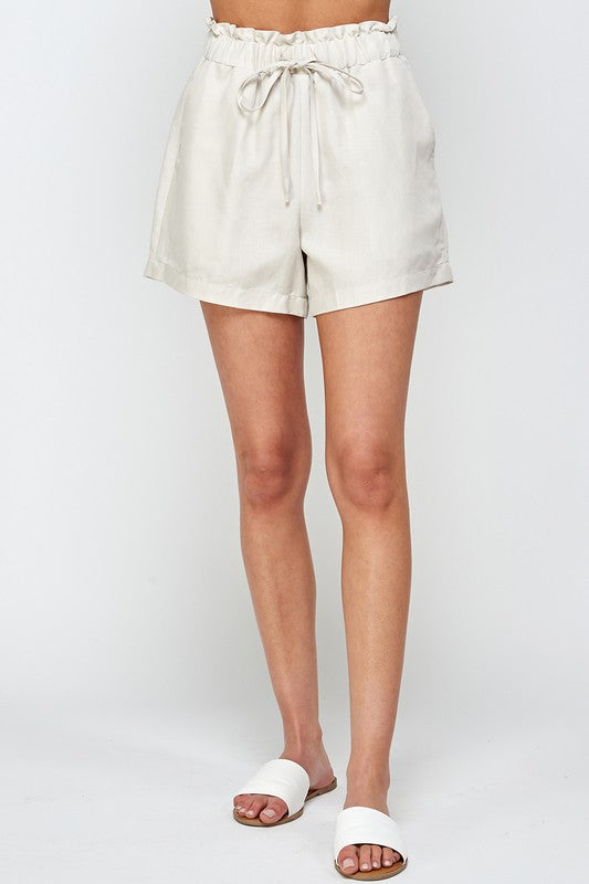 High Waist Drawstring Short -  ShopatGrace.com