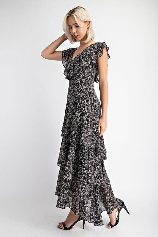 Tiered Ruffle Maxi Dress -  ShopatGrace.com