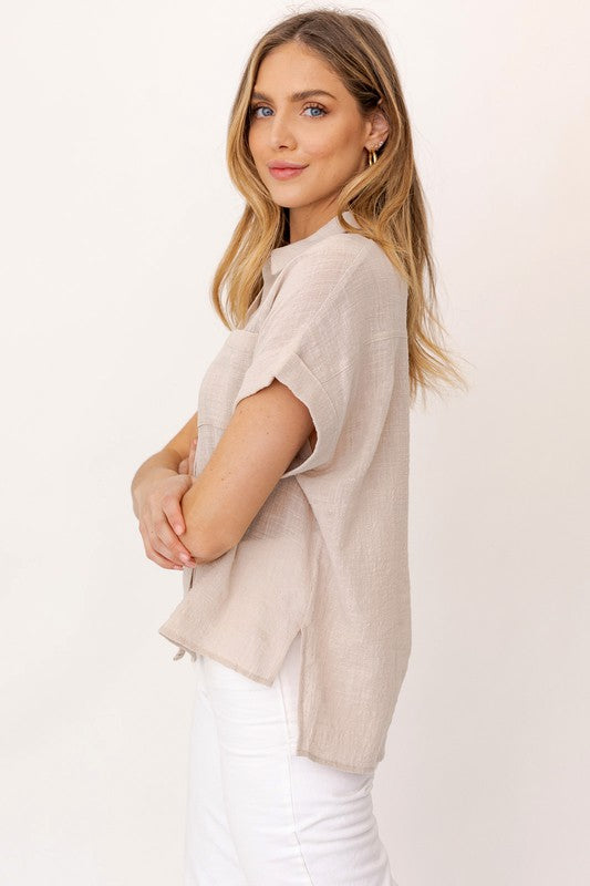 Button Down Blouse -  ShopatGrace.com