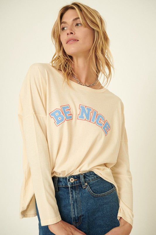 Be Nice Graphic Tee -  ShopatGrace.com