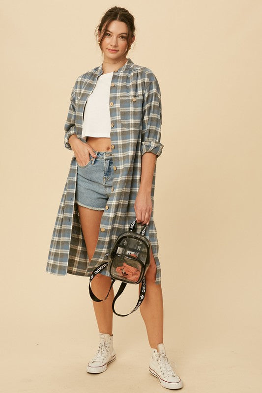 Plaid Button Down Midi -  ShopatGrace.com