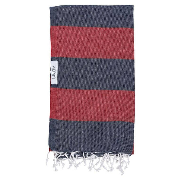 Buddhaful Towel - OS / NAVY/RED ShopatGrace.com