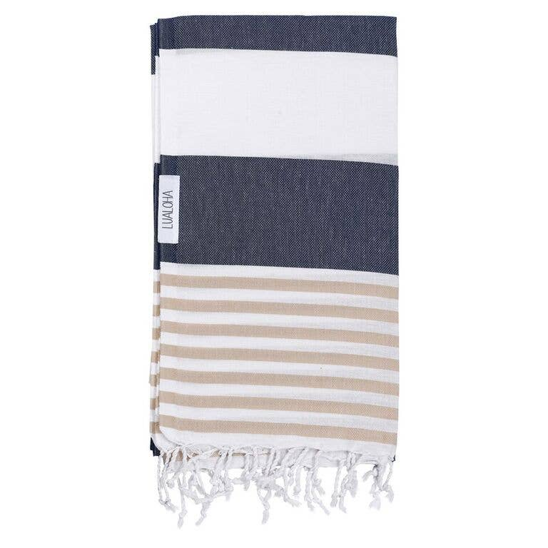 Goodness Towel - OS / NAVY/SAND ShopatGrace.com