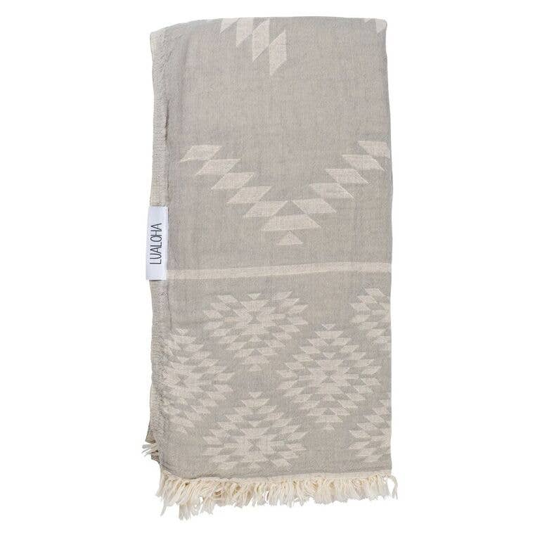 Luxury Tribe Towel - OS / Light Grey ShopatGrace.com