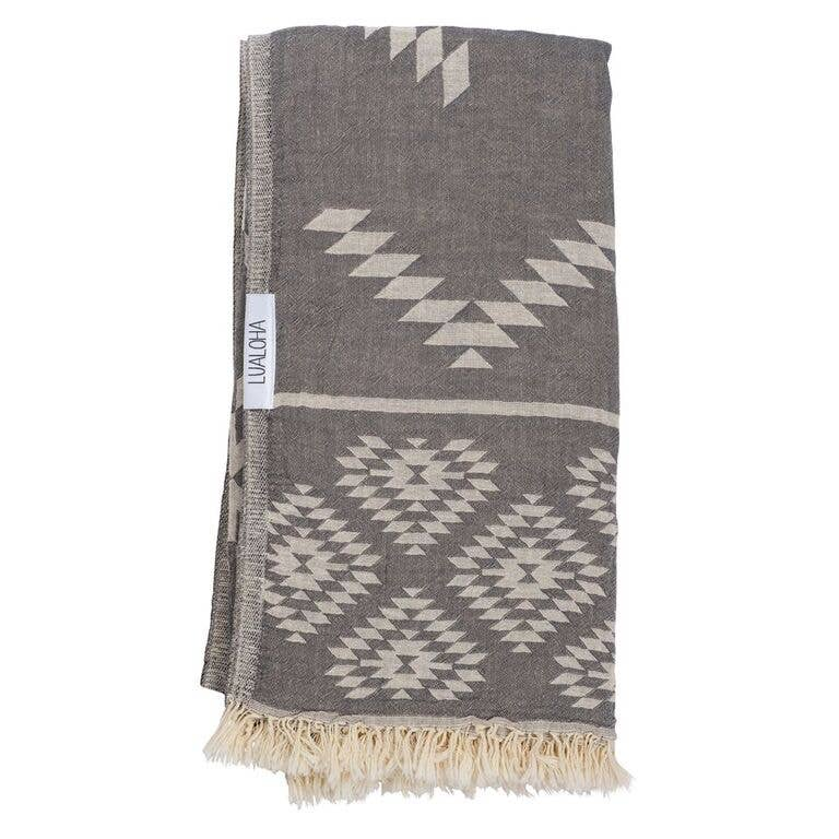 Luxury Tribe Towel - OS / Charcoal ShopatGrace.com