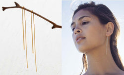 Needle and Thread Earring - Gold / OS ShopatGrace.com