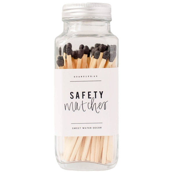 Safety Matches - Glass Jar -  ShopatGrace.com