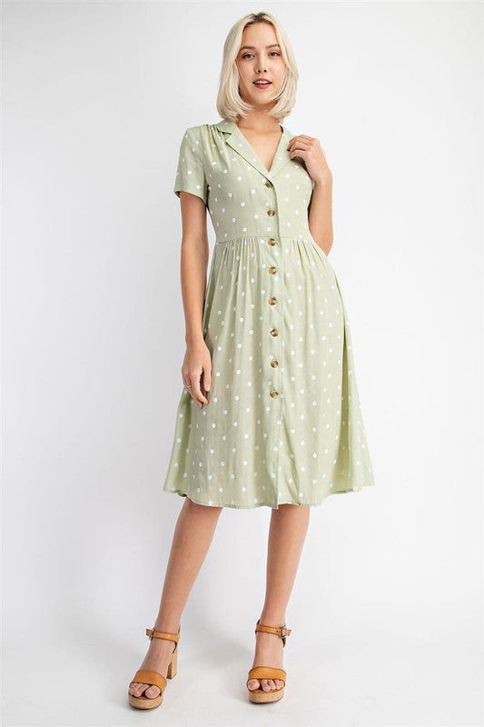 Polka Dot Shirt Dress -  ShopatGrace.com